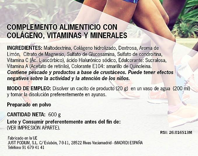 Just Podium Magnesio Colagenium - 600 gr: Amazon.es: Salud y cuidado personal