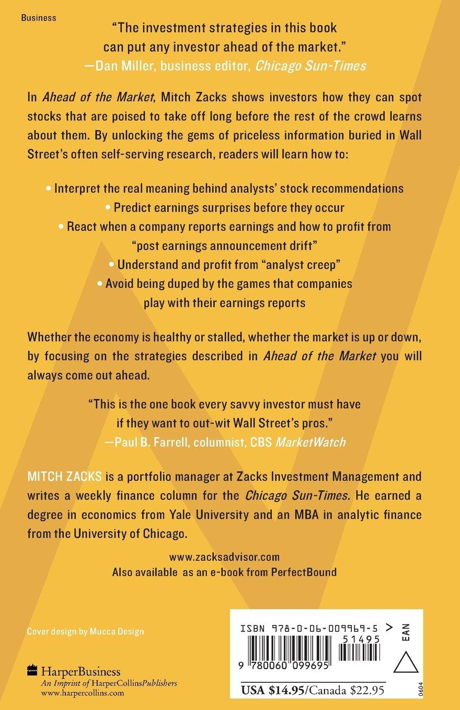Ahead of the Market: The Zacks Method for Spotting Stocks