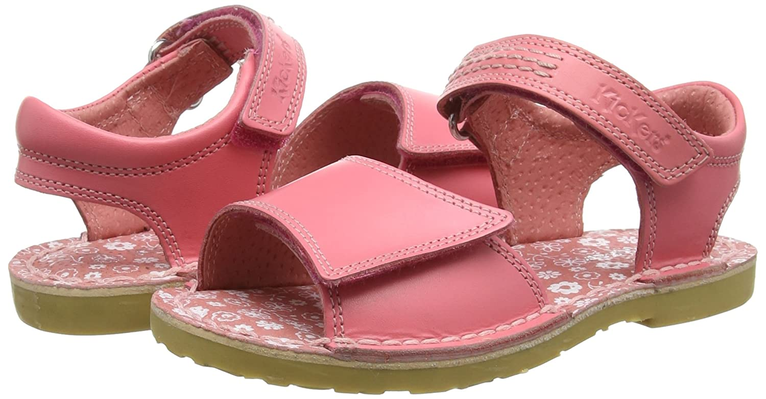 Amazon.com | Kickers Girls Infant Kids Adlar San Leather Light Pink Leather Sandal Size | Sandals