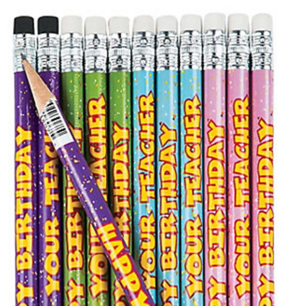 2 dz FX and Student Happy Birthday Cupcake Poster for Classroom 1 pc Gifts Happy Birthday From Your Teacher Pencils