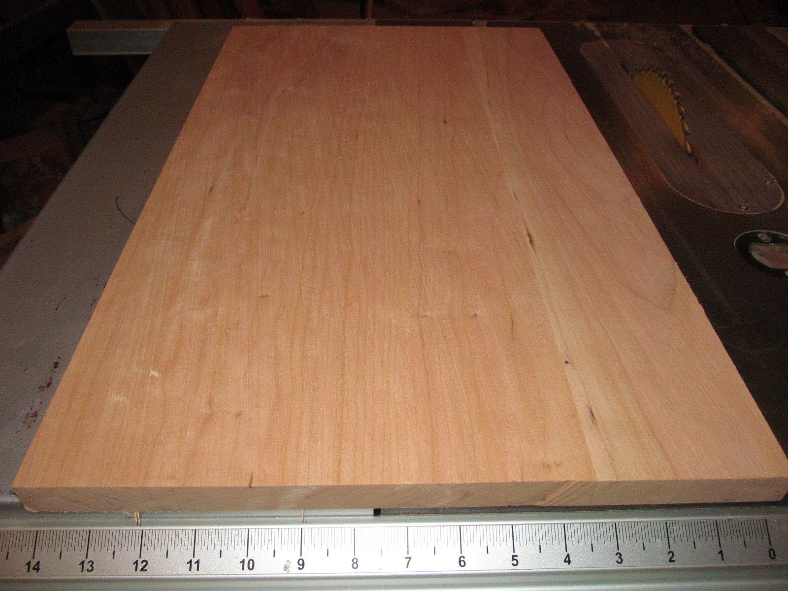 Wood) Wide Clear Sanded KILN Dried Cherry Panels 24 X 14 X 3/4'' by (High Quality Wood)