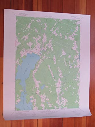 Jefferson Maine Map.Amazon Com Jefferson Maine 1967 Original Vintage Usgs Topo Map