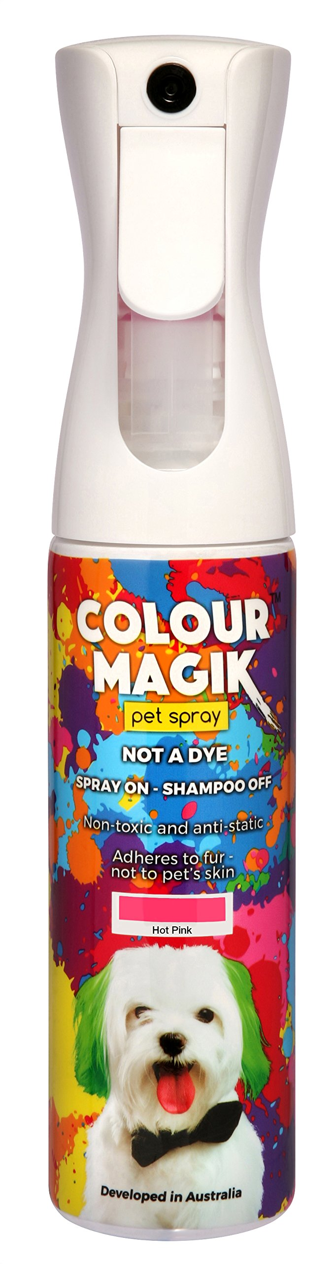 Petway Petcare Pet Paint Spray for Dogs 280 Ml - Color Safe Temporary Dog Hair Color Spray - Non Toxic, Eco Friendly, Propellant Free Dog Paint Hot Pink by PETWAY