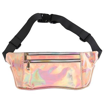 4dc92ba81e Fanny Pack Waist Bag Women Bum Pouch Pocket Cute Holographic Shiny  Iridescent Adjustable Belt Travel Running