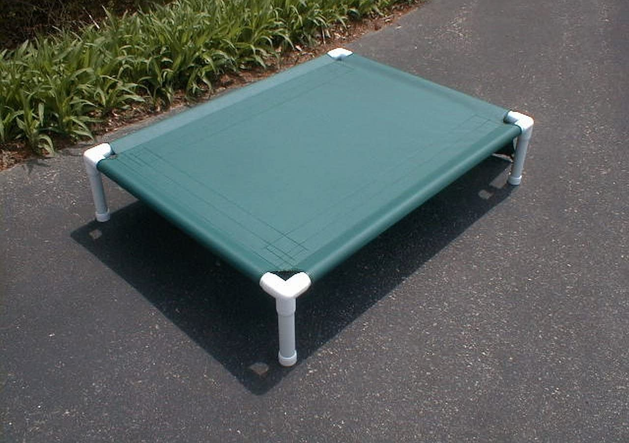 Dianes K9 Creations Inc. Elevated Dog Cot. Large Pet Bed. Dog Bed. Canvas. 38x50x10 Forest Green