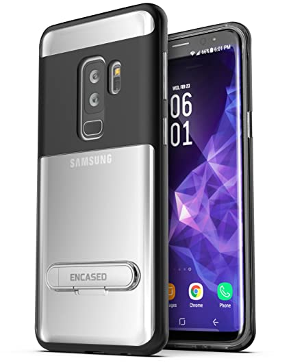 huge selection of 01701 e87de Galaxy S9 Plus Clear Case - Encased Crystal Back Case with Metal Kickstand  for Samsung S9+ (SM-G9650)