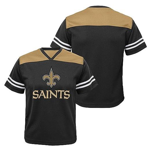 f572cc41f New Orleans Saints Black NFL Youth Team Apparel V-Neck Shirt (Large 10