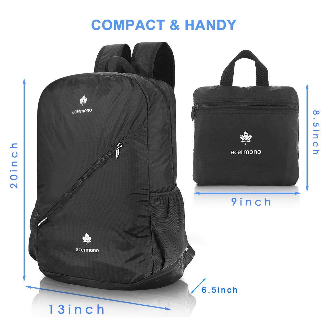 Amazon.com   acermono Lightweight Packable Backpack Travel Hiking Daypack 34eecb67a09f0