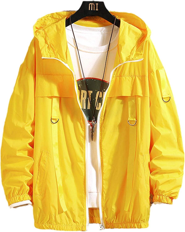 Men Streetwear Bomber Jackets Windbreaker Summer Thin Mens Harajuku Hip Hop Jackets Vintage Cargo Bomber Jackets: Clothing