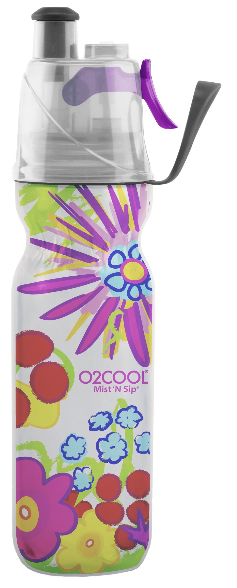 Misting Insulated Water Bottle, Mist 'N Sip Spring Flowers from Color Series by O2COOL, 20 oz