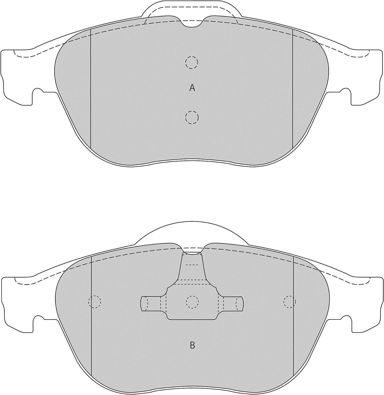 4-teilig ABS All Brake Systems bv 37218 Bremsbel/äge