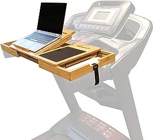 SmartFitness Treadmill Laptop Holder, Treadmill Laptop Stand, Treadmill Laptop Desk, Treadmill Laptop Shelf, Treadmill Desk Attachment, Laptop Mount, Computer Stand for Treadmill (Patent Pending)