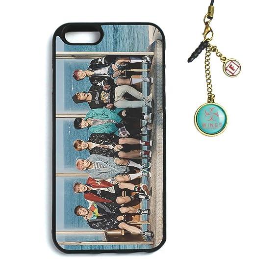 best service ded8d 81a8f Fanstown Kpop BTS Bangtan Boys iPhone 6/6s case You Never Walk Alone + Dust  Plug Charm (E01)