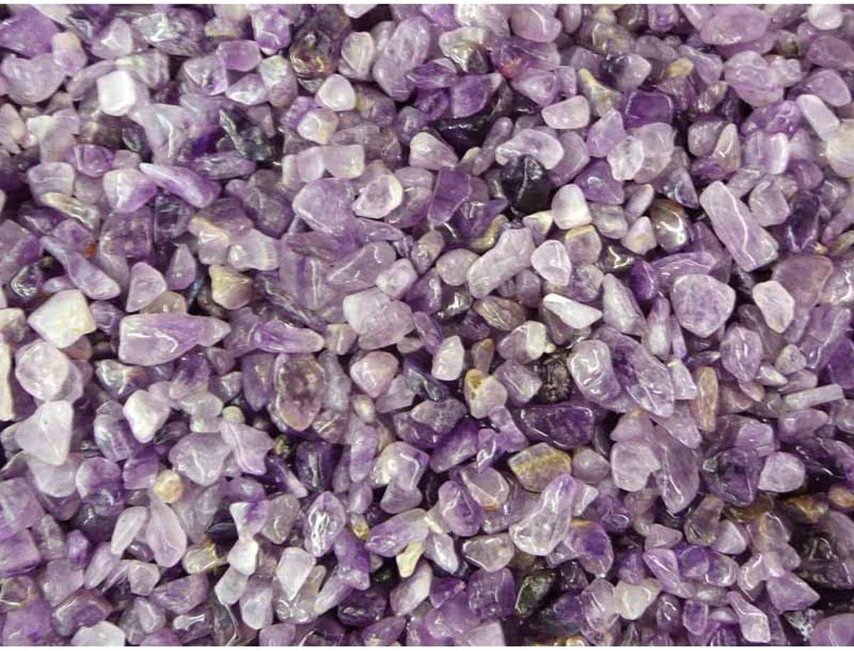 Mini Rodado de Amatista (Pack de 250 gr) Minerales y Cristales, Belleza energética, Meditacion, Amuletos Espirituales