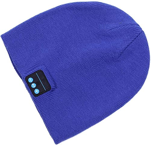 SINNESKY Bluetooth Beanie, Gifts for Men and Women, Wireless Beanie Music Hat with V5.0 Built-in HD Stereo Speakers Microphone for Outdoor Sports, Christmas Birthday Thanksgiving Day Gift Blue