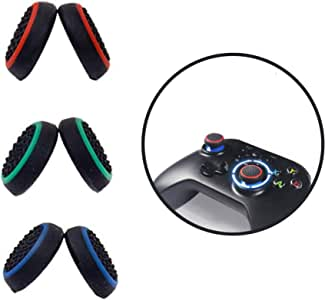 Thumb grips,【3 Pair Thumb Cover】Silicone Analog Thumb grip, Controller Covers for PS4 / PS3 / PS2 / Xbox One / 360 / Nintendo Switch Pro(2020 AU New Thumb Caps)