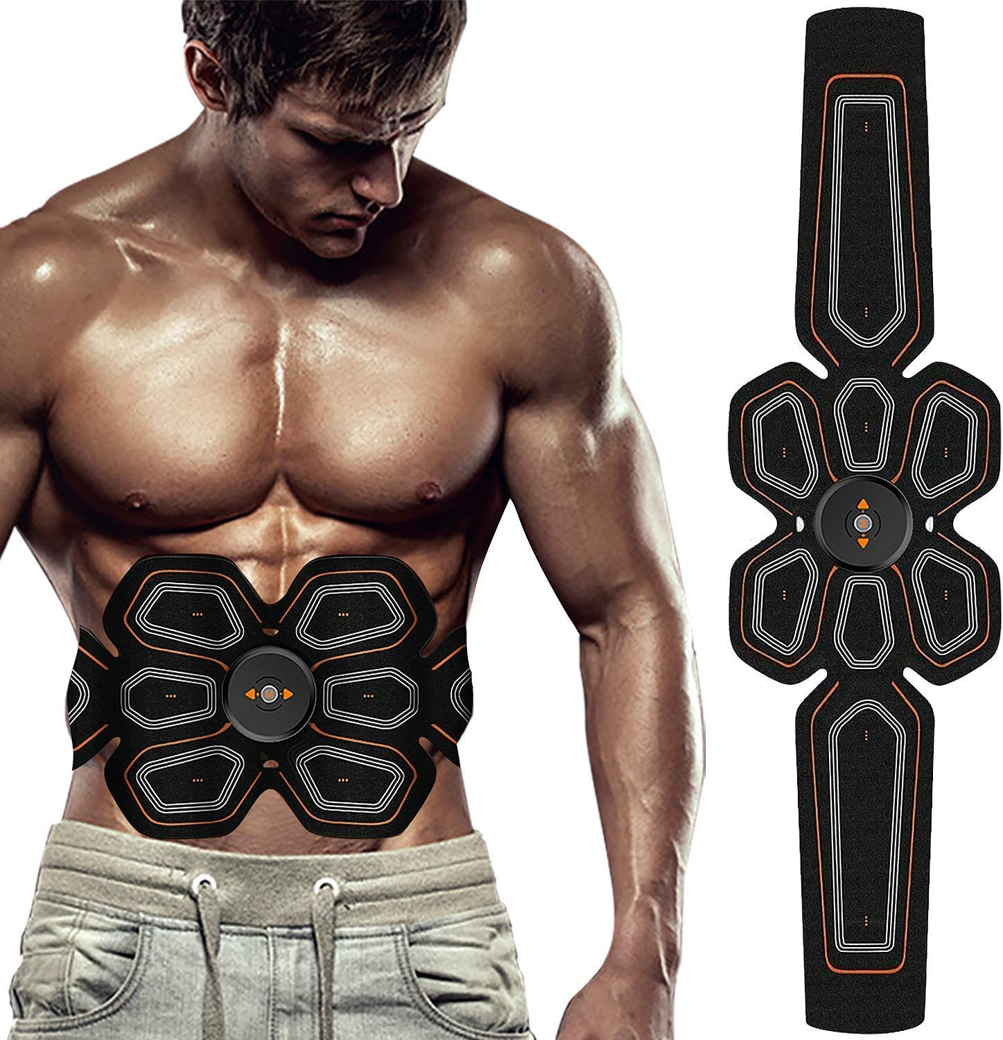 Electronic Abdominal Muscle Trainer Smart Body Belly Leg Arm Fitness  US SELLER