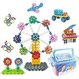 WTOR 700ピース おもちゃ 積み木 知育 玩具 DIY はめ込み ブロック 子供 立体 パズル 男の子 女の子 誕生日プレゼント クリスマス 贈り物 (収納ケース付け 700ピース)
