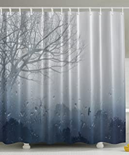 Amazon.com: Kikkerland Shower Curtain, Polyester, Birch: Home U0026 Kitchen