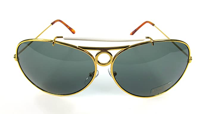 4422ca8774 Amazon.com  Fear and Loathing Hunter Las Vegas Dark Green Sunglasses Glasses  Aviator Costume  Clothing