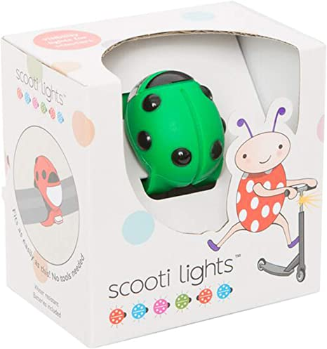 color verde y negro Buggi Lights BUGGISCOOTGR Luces LED para patinete