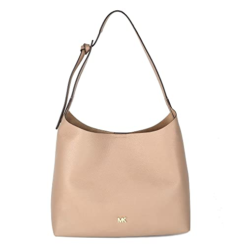 45a0268a2a3ca MICHAEL by Michael Kors Junie Medium Truffle Leather Hobo Bag one size  Truffle