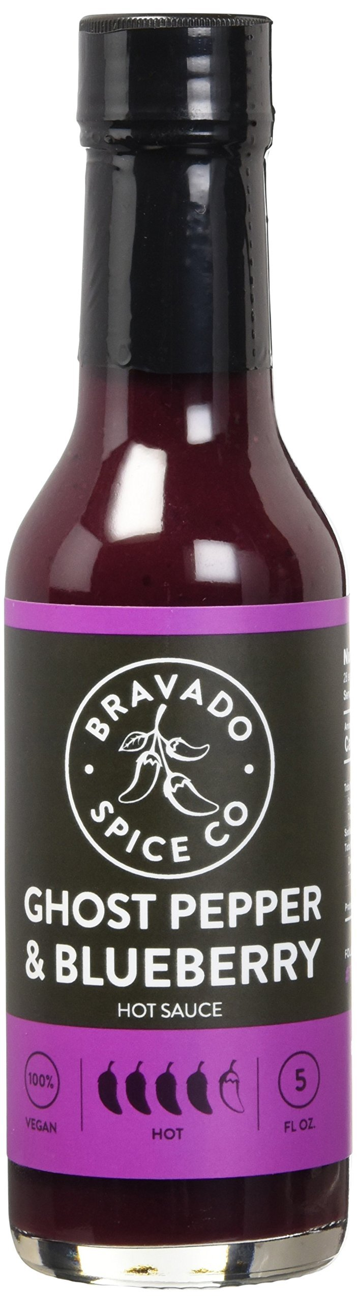 Bravado Spice Hot Sauce, Ghost Pepper and Blueberry