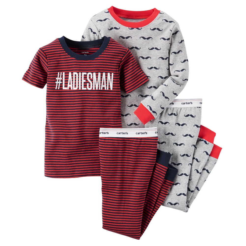 Carters Baby Clothing Outfit Boys 4-Piece Snug Fit Cotton PJs #Ladiesman 6M