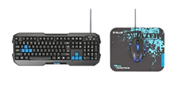 85baecc08ae Image Unavailable. Image not available for. Colour: E-BLUE EKM820BKUS-IU  Gaming Combo USB Keyboard ...