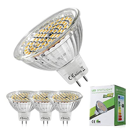 Bombillas LED MR16, GU5.3, equivalente a bombillas halógenas de 50 W,