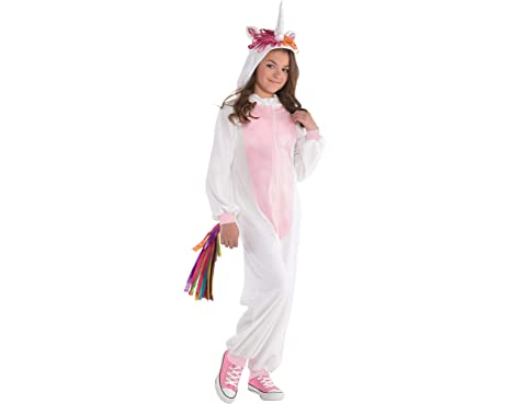 f6f0f1012248 Image Unavailable. Image not available for. Color: Amscan Girls Zipster  Unicorn One-Piece Costume ...