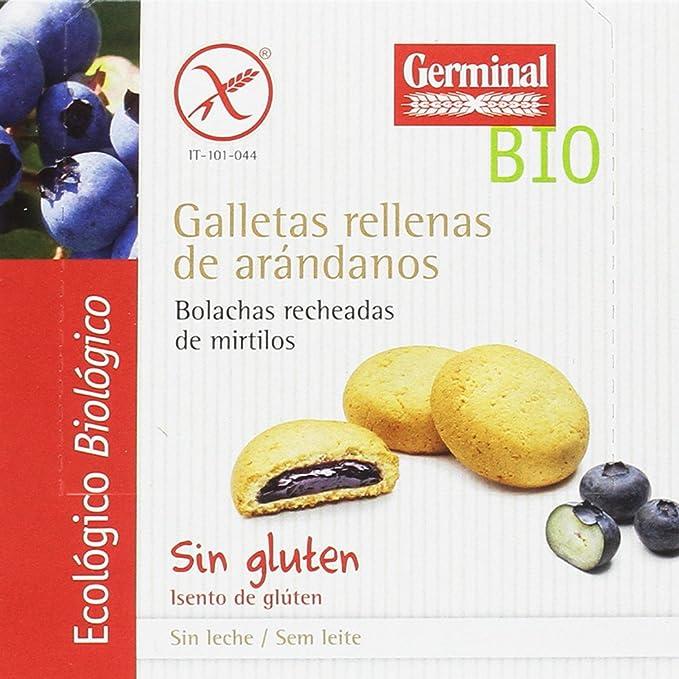 Germinal Galletas Sin Gluten Rellenas de Crema de Arándanos - Paquete de 10 x 200 gr