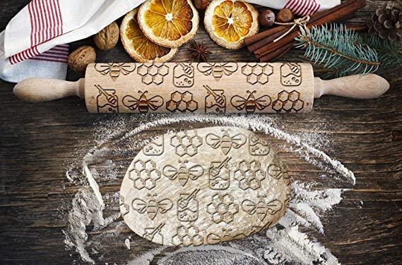 Harrier Small Rolling  Pin for Cookies with Dog/'s Body Roller with Your Pattern Engraved Rolling-pin Embossing Rolling Pin