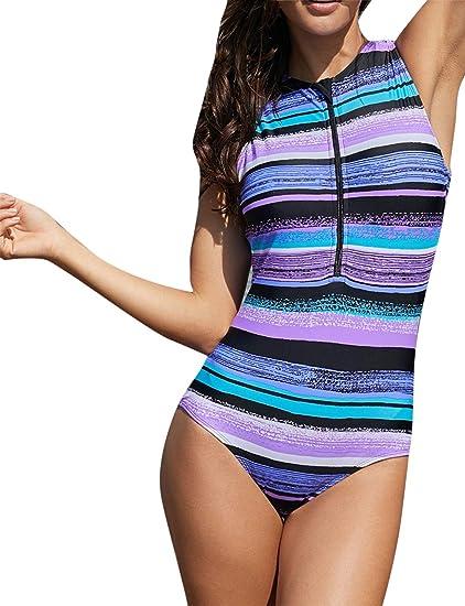 e1b2d7b2e5 Eozy Vêtement-Soutien Une Pièce Maillot de Bain à Rayure Taille Gros et  Normal Collant pour Été: Amazon.fr: Vêtements et accessoires