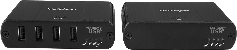 USB Over Cat5//Cat6 Extender Compact USB 2.0 Over Ethernet Extender USB2004EXTV 50m StarTech.com 4-Port USB 2.0 Extender 165ft