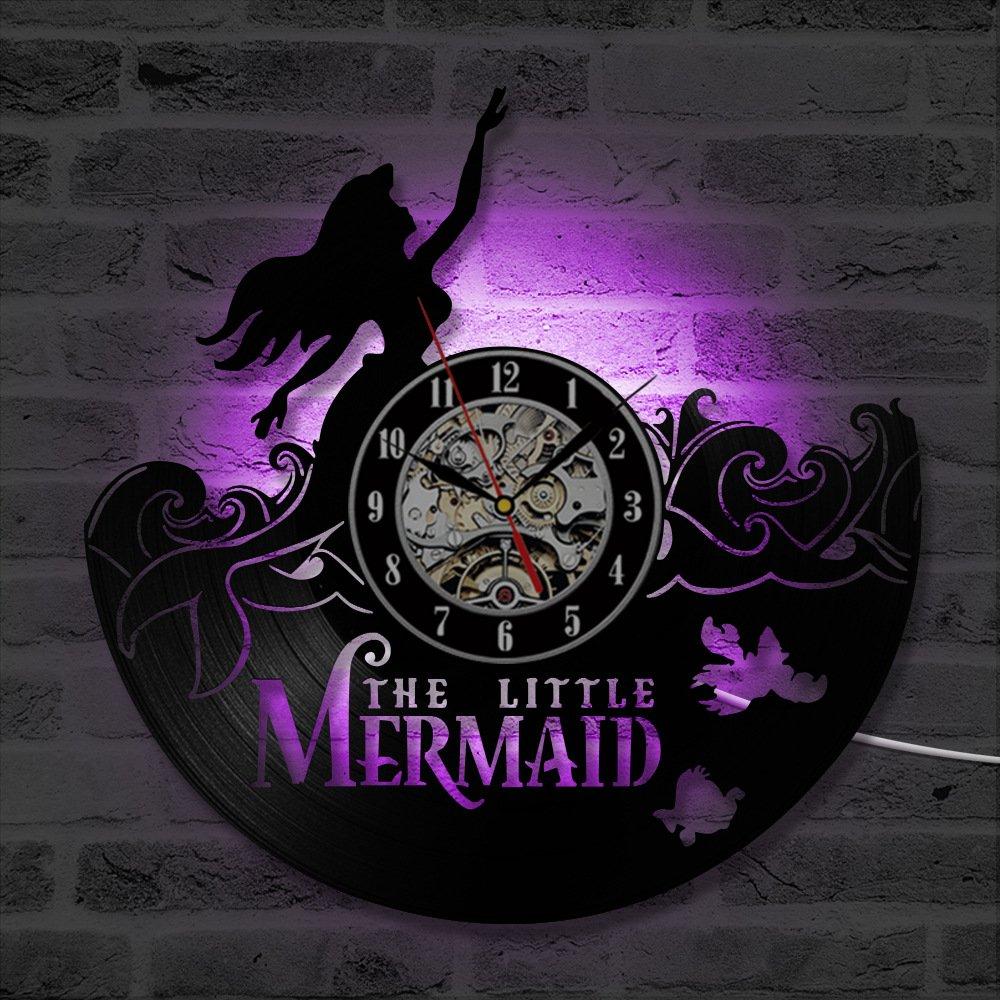 Sirena LED Reloj de Pared Mute Control Remoto Creativo ...