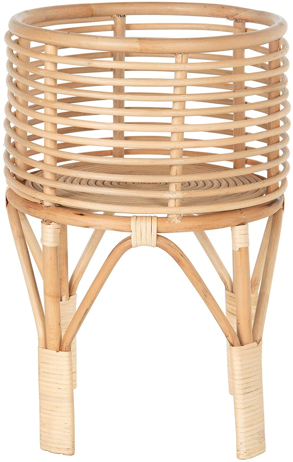 KOUBOO Rattan Indoor Plant Stand, Small, Natural Planter Brown