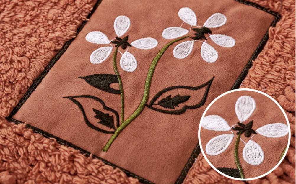 LivebyCare Multi-Size Heavy Floral Embroidery Area Door Mat Floor Rug Runner Durable Chenille Doormat Entry Carpet Front Entrance Indoor Outdoor Mats for Decor Decorative Study Room