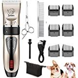 Yabife Dog Clippers, USB Rechargeable Cordless...