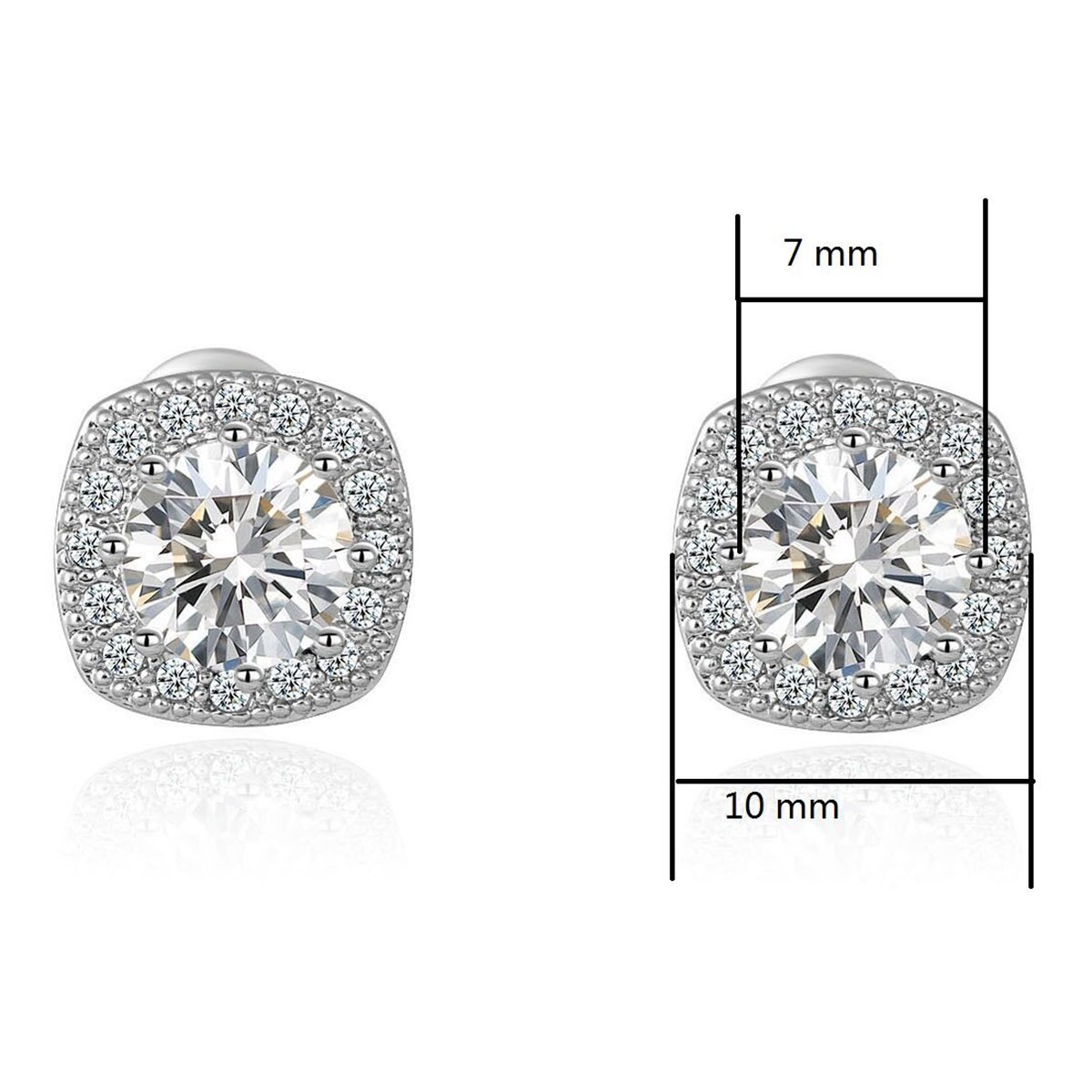 Stud Earrings Earrings for Girls Fashion Jewelry Cubic Zirconia Halo Earrings for Women Men