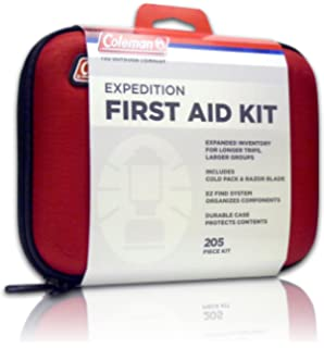 coleman expedition 205piece all purpose first aid kit for emergencies at home camping