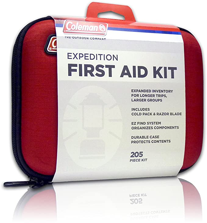 Coleman Camping First Aid Kit an All Purpose First Aid Kit for Emergencies at Home, Car, Workplace, Hiking, or Survival, 205-Pieces best first aid kits
