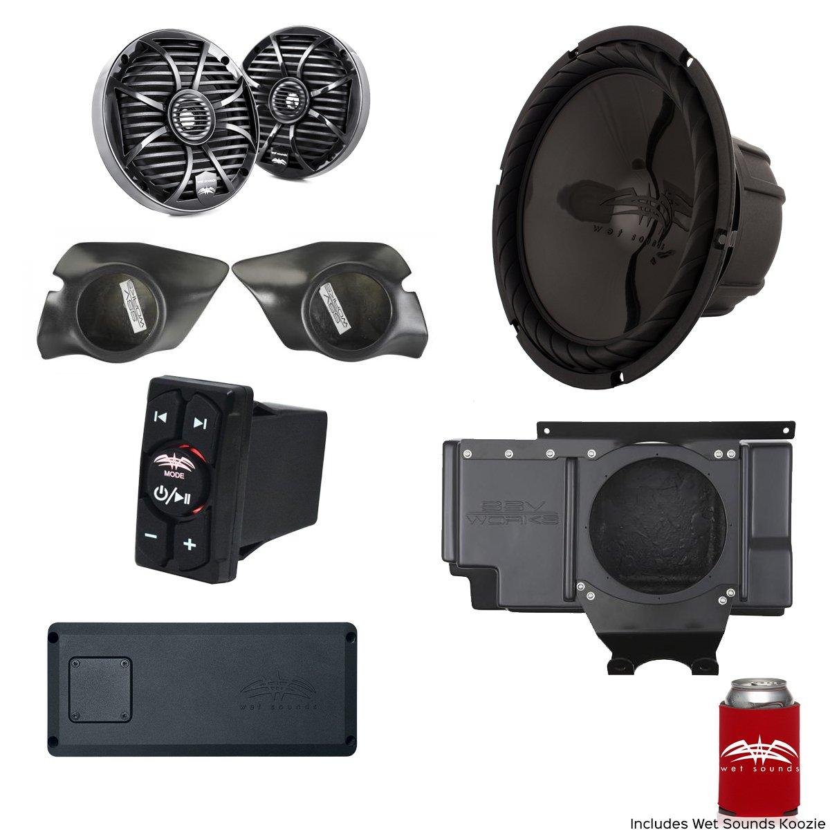 濡れサウンド& Ssv Works for Polaris RZR 2014 + xp1000 3-speakerシステムパッケージ。サブウーハーWill Notフィットターボモデル。 B0785GSZCY