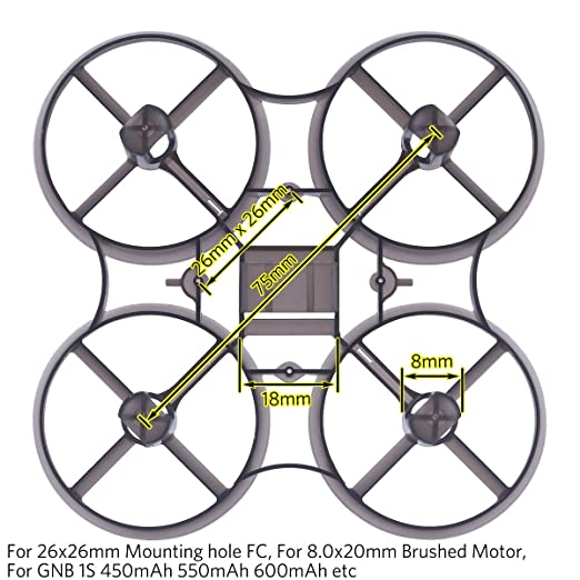 Amazon Com Tiny 8mm Whoop Frame For 75mm Micro Fpv Racing