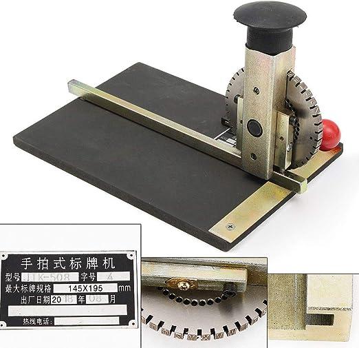 Máquina de repujado manual, grabadora de metal con placa ...