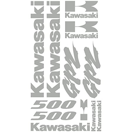 Stickers Sticker Kawasaki Gpz 500 Ref Moto 067 Silver