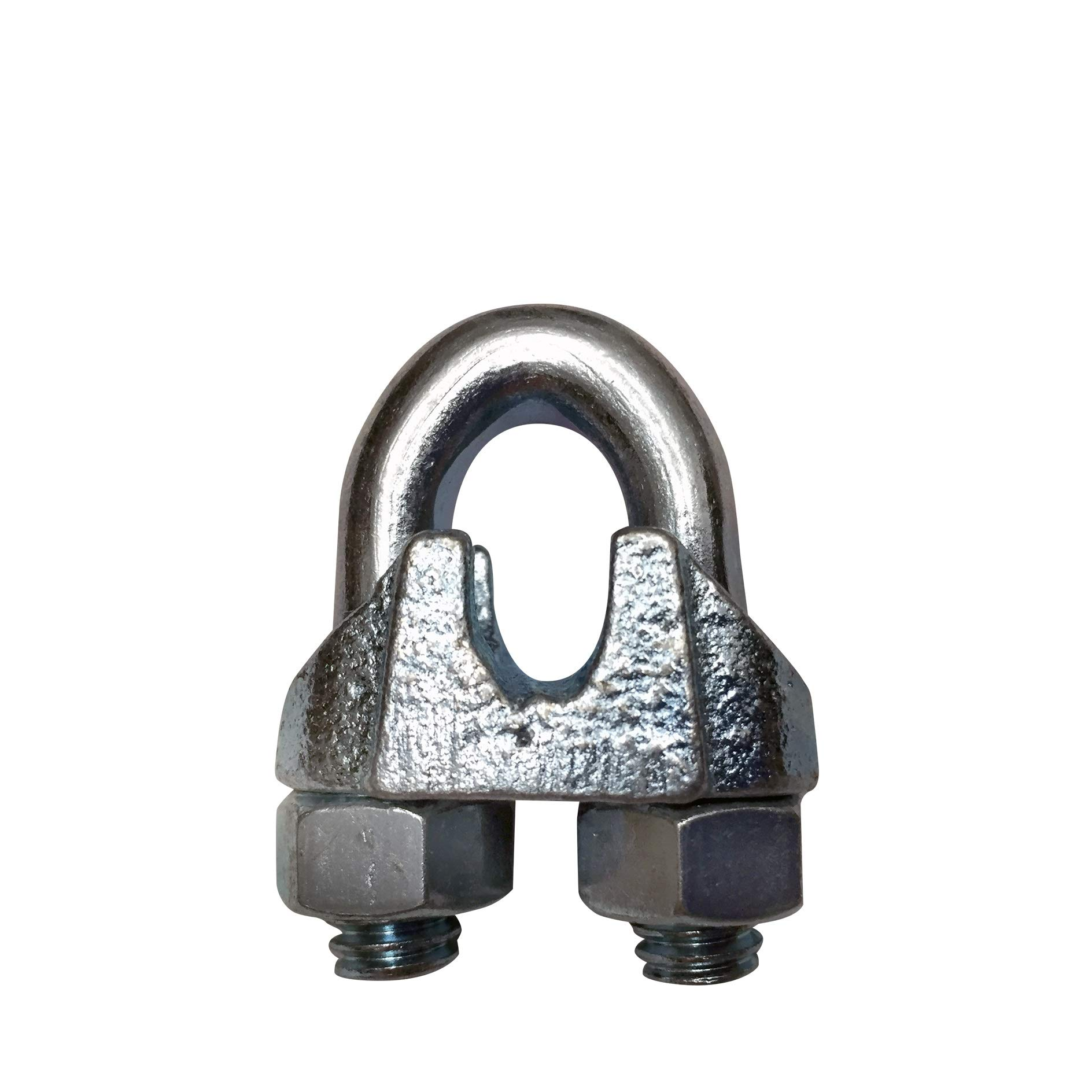 Wire Rope Clamp 1/4 inch 12 Pack Zinc Plated - Wire Rope Clip - Wire Cable Clamps - Yardware etcetera