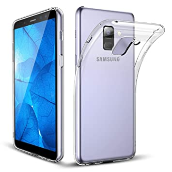 online store 44b6f f0ff7 Galaxy A8 2018 Case, Galaxy A8 2018 [Fusion] Clear Back TPU Gel Case [Drop  Protection/Shock Absorption Technology] For Samsung Galaxy A8 2018 Case