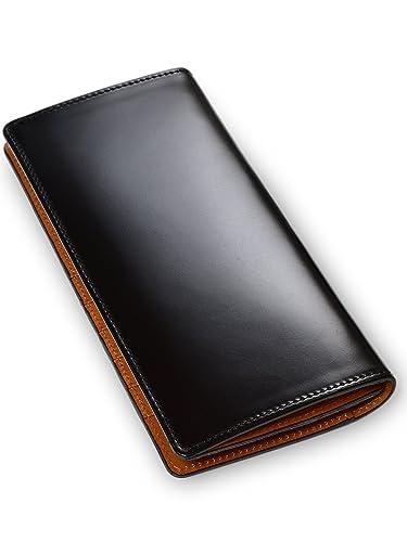 e632fe2b48ba Amazon | [タバラット] 日本製 長財布 水染め コードバン 本革 かぶせ ...