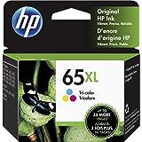 HP 65XL | Ink Cartridge | Tri-color | Works with HP DeskJet 2600 Series, 3700 Series, HP ENVY 5000 Series, HP AMP 100, 120, 1